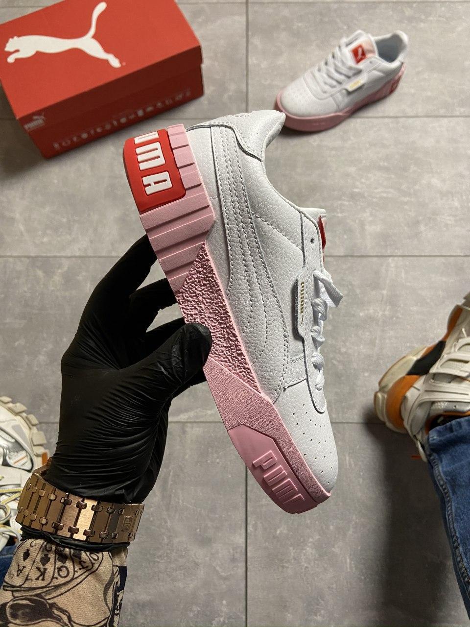 Puma Cali White and Pink Sole