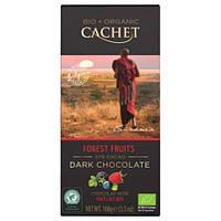 Черный шоколад с кусочками фруктов Cachet Dark Chocolate  57%  Forest Fruits  Bio Organic 100g