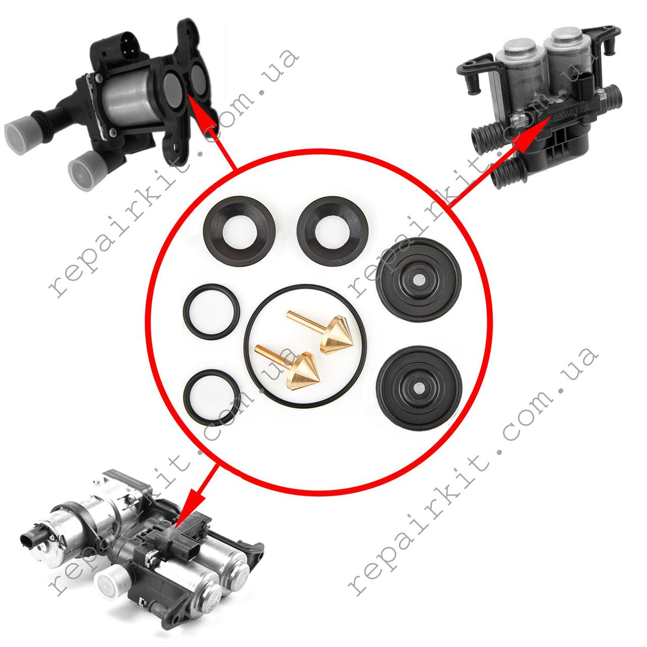 Ремкомплект клапанов печки BMW E39, E38, E53, E34, E32, E31, E65, E66, E60, E61, E63, E64