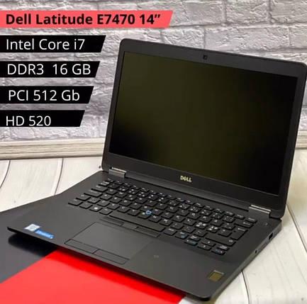 НОУТБУК Dell Latitude E7470 14 (i7-6600U / DDR4 16GB / PCI 512GB / HD 520), фото 2