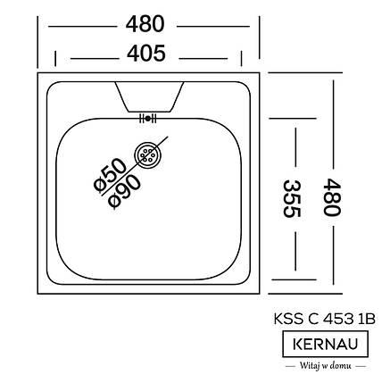 Кухонная мойка KERNAU KSS C 453 1B LINEN, фото 2