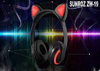 Наушники SUNROZ ZW-19 с кошачьими ушками, фото 1