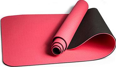 Коврик для йоги и фитнеса Оригинал TPE+TC, двухслойный, 8 мм + Подарок, фото 3