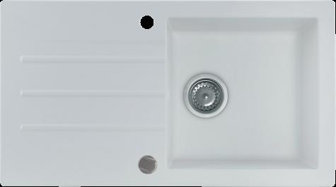 Кухонная мойка KERNAU KGS A 50 1B1D PURE WHITE, фото 2