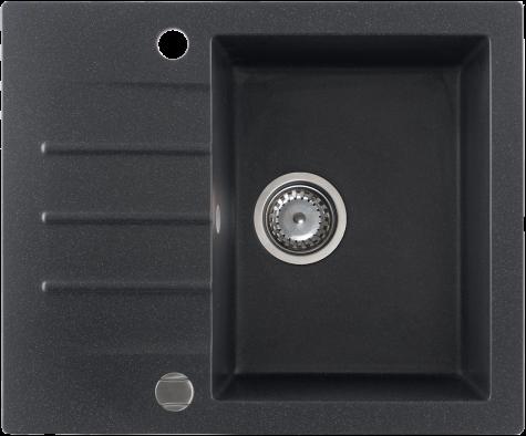 Кухонная мойка KERNAU KGS A 4560 1B1D BLACK METALLIC