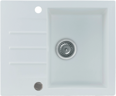 Кухонная мойка KERNAU KGS A 4560 1B1D PURE WHITE