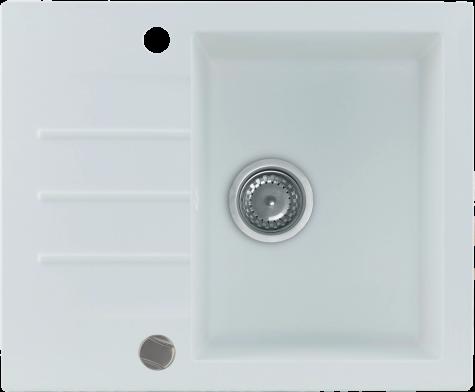 Кухонная мойка KERNAU KGS A 4560 1B1D PURE WHITE, фото 2