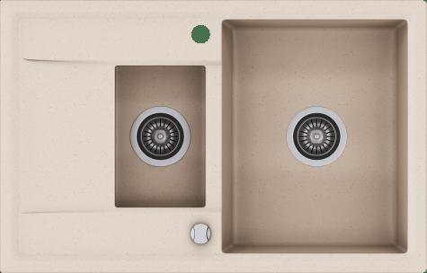 Кухонная мойка KERNAU KGS W 6078 1,5B1D SAND, фото 2