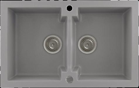 Кухонная мойка KERNAU KGS A 80 2B GREY METALLIC, фото 2