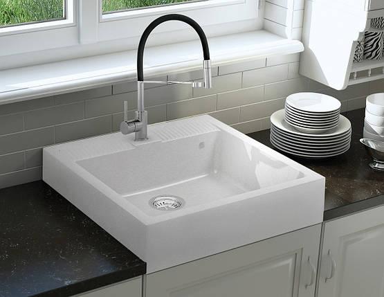 Кухонная мойка KERNAU KGS N 60 1B PURE WHITE, фото 2