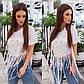 Белая Летняя модная стильная женская 3D футболка 2020, фото 3
