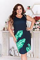 Летнее женское платье без рукавов (2 цвета) ЛБ/-2140 - Черный, фото 1