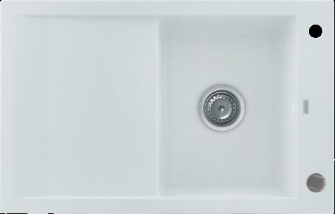 Кухонная мойка KERNAU KGS M 45 1B1D PURE WHITE