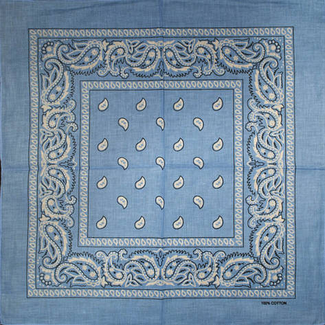 Бандана BAN-091 Голубая, фото 2