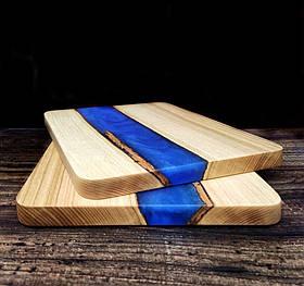 """Доска деревянная для подачи блюд """"Blue ocean"""""""