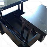 Стіл-трансформер Optimus чорне ЛДСП / чорне скло Lacobel, фото 6