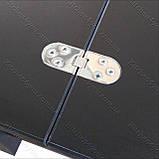 Стіл-трансформер Optimus чорне ЛДСП / чорне скло Lacobel, фото 7