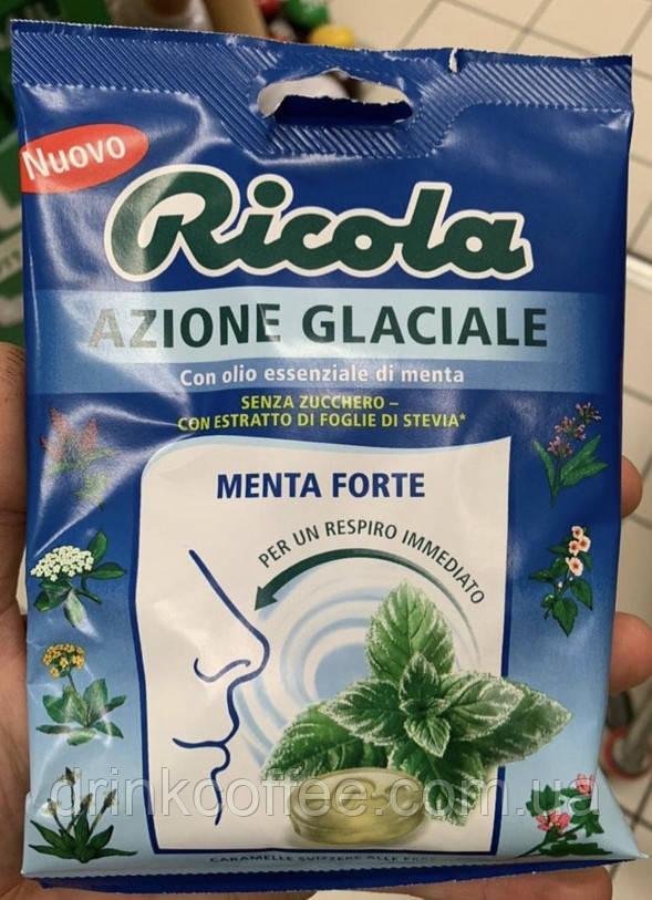 Натуральные леденцы Ricola Azione Glaciale (Menta Forte) 70г