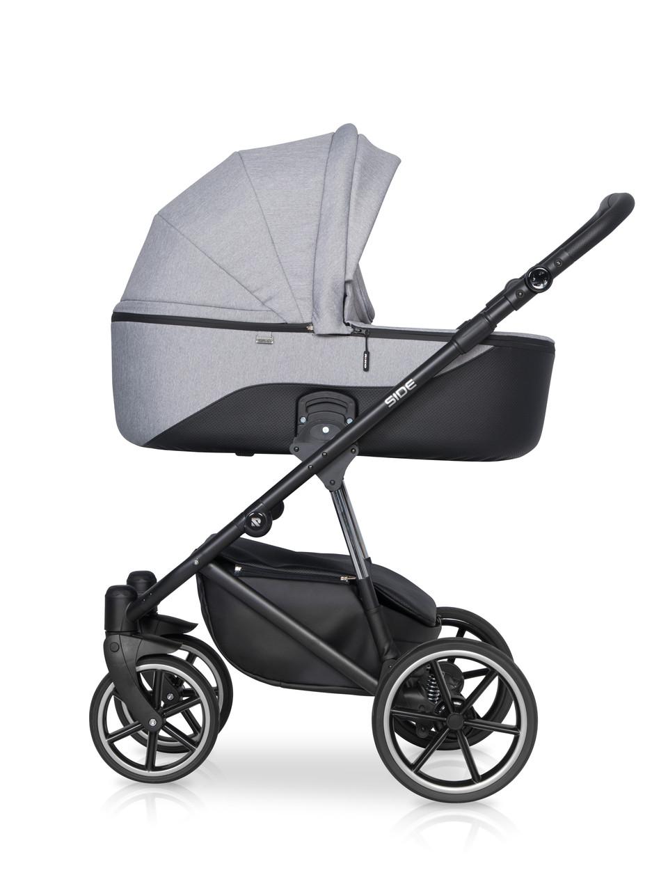 Дитяча універсальна коляска 2 в 1 Riko Side 01 Grey Fox
