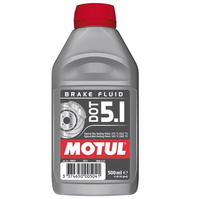 Тормозная жидкость 100% синтетическая MOTUL DOT 5.1 0,5л. 100950/807010