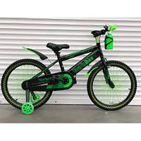 """Детский двухколесный велосипед 16 дюймов """"869"""" зелёный  topRider-"""