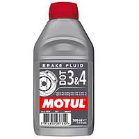 Тормозная жидкость 100% синтетическая MOTUL DOT 3&4 0,5л. 102718/807910