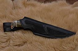 """Нож ручной работы из мозаичного дамаска """"Сокол"""", оригинальный подарок мужу, отцу, шефу или коллекционеру ножей, фото 3"""