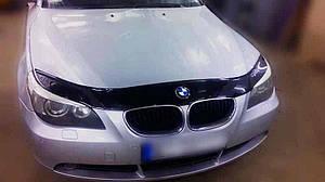 Мухобойка, дефлектор капота BMW 5 серии E60 с 2003 г.в.