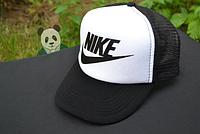 Спортивная кепка Nike, Найк, тракер, летняя кепка, мужская, женская, черного и белого цвета, копия