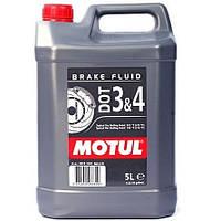 Тормозная жидкость 100% синтетическая MOTUL DOT 3&4 5л. 104247/807906
