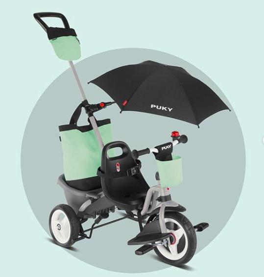 Триколісний велосипед Puky CEETY Comfort(grey/metallic/olive), Німеччина