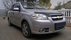 Мухобойка, дефлектор капота Chevrolet Aveo с 2006-2012 г.в.(седан)