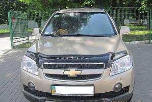 Мухобойка, дефлектор капота Chevrolet Captiva с 2006-2011 г.в.