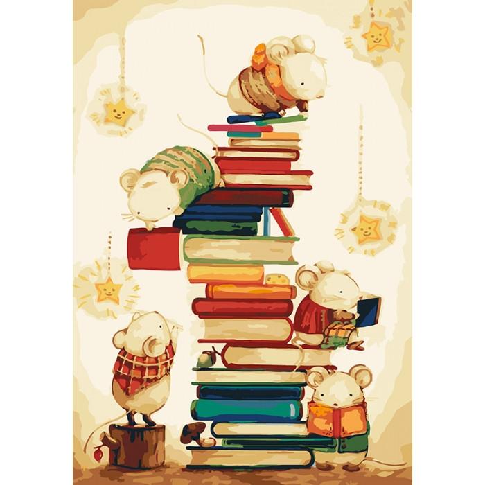 Картина по номерам Идейка - Маленькие читатели 35x50 см (КНО4111)