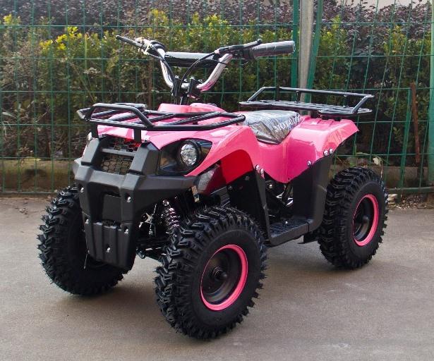 Электроквадроцикл (дитячий) Hummer J-Rider 1000W Рожевий