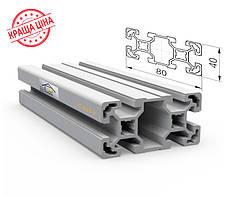 Алюминиевый конструкционный станочный 80х40 без покрытия