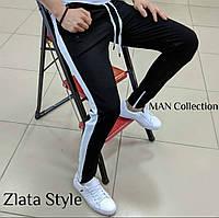 Мужские стильные спортивные штаны с лампасами, фото 1