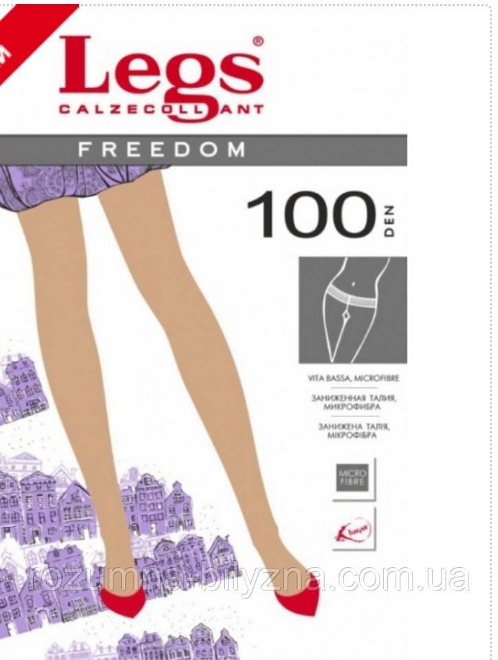 Колготи в кольорі tabaco низька посадка 100 ден TM Legs Розмір 1/2