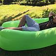 Надувной Матрас Воздушный Мешок Биван Lamzac Ламзак Аэрошезлонг Лежак #5 Салатовый, фото 3