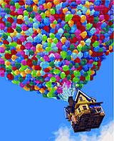 Алмазная картина-раскраска 40x50 Полет на воздушных шарах, Rainbow Art (GZS1040)