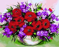 Алмазная картина-раскраска 40x50 Полевые цветы, Rainbow Art (GZS1100)