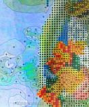 Алмазная картина-раскраска 40x50 Волк и цветок, Rainbow Art (GZS1078), фото 2