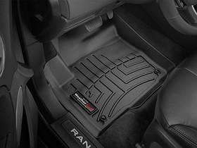 Ковры резиновые WeatherTech Range Rover Evoque 2012-2018  передние (5-door, Coupe, Convertible) черные