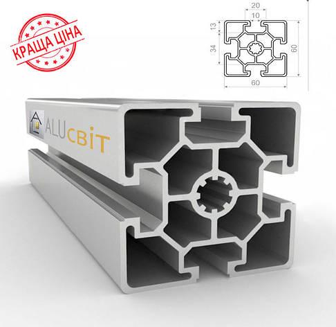 Алюминиевый конструкционный станочный 60х60 без покрытия, фото 2