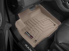 Ковры резиновые WeatherTech Range Rover Evoque 2012-2018  передние (5-door, Coupe, Convertible) бежевые