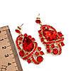Комплект SONATA (Колье + серьги), красные камни, 63336       (1), фото 3