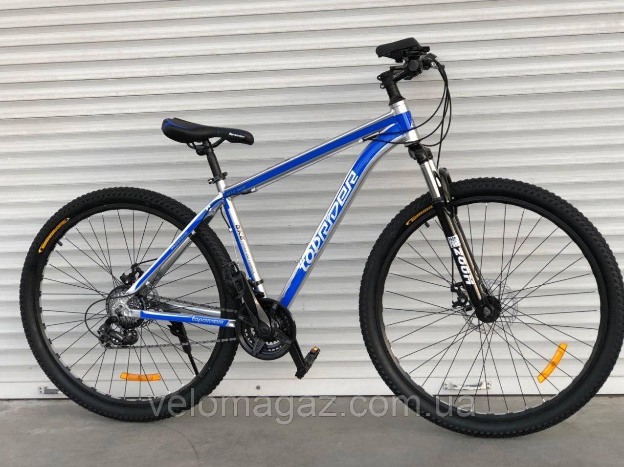 """Велосипед алюмінієвий гірський TopRider-680 29"""" синій"""