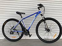 """Велосипед алюмінієвий гірський TopRider-680 29"""" синій, фото 1"""