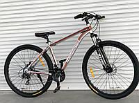 """Велосипед алюмінієвий гірський TopRider-680 29"""" сріблясто-коричневий, фото 1"""