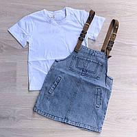 Костюм для дівчинки 2-ка, сарафан, футболка з 7-15 років